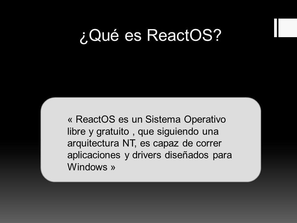 ¿Qué es ReactOS.