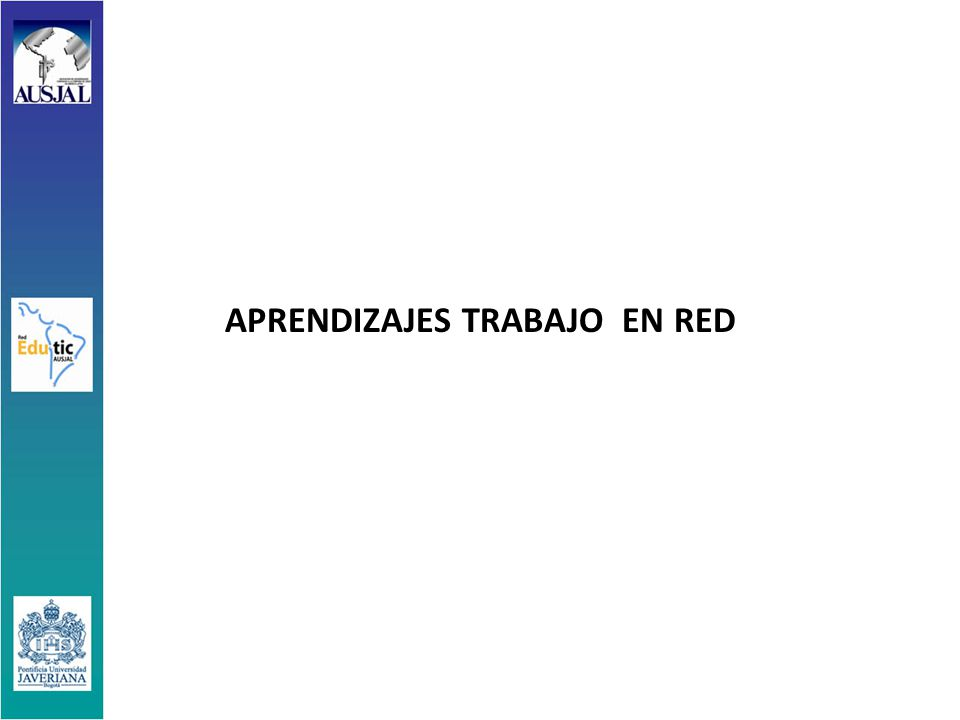 APRENDIZAJES TRABAJO EN RED