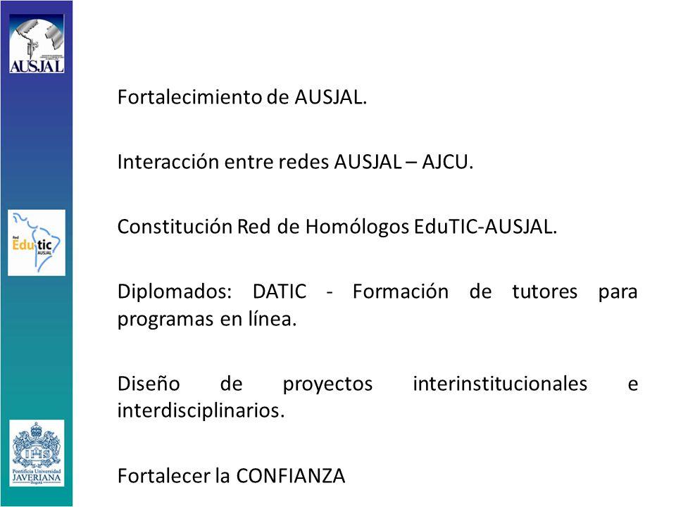Fortalecimiento de AUSJAL. Interacción entre redes AUSJAL – AJCU.