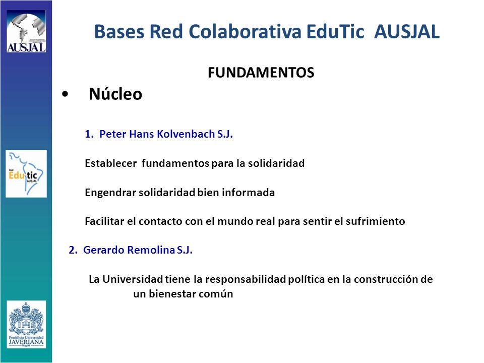 Bases Red Colaborativa EduTic AUSJAL FUNDAMENTOS Núcleo 1.