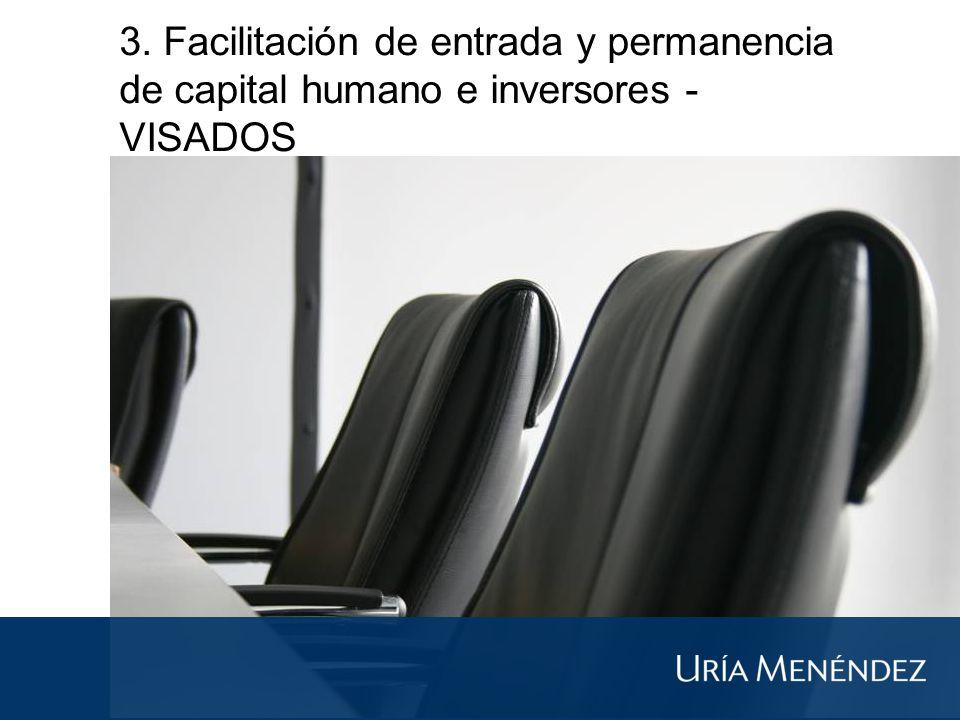 3. Facilitación de entrada y permanencia de capital humano e inversores - VISADOS