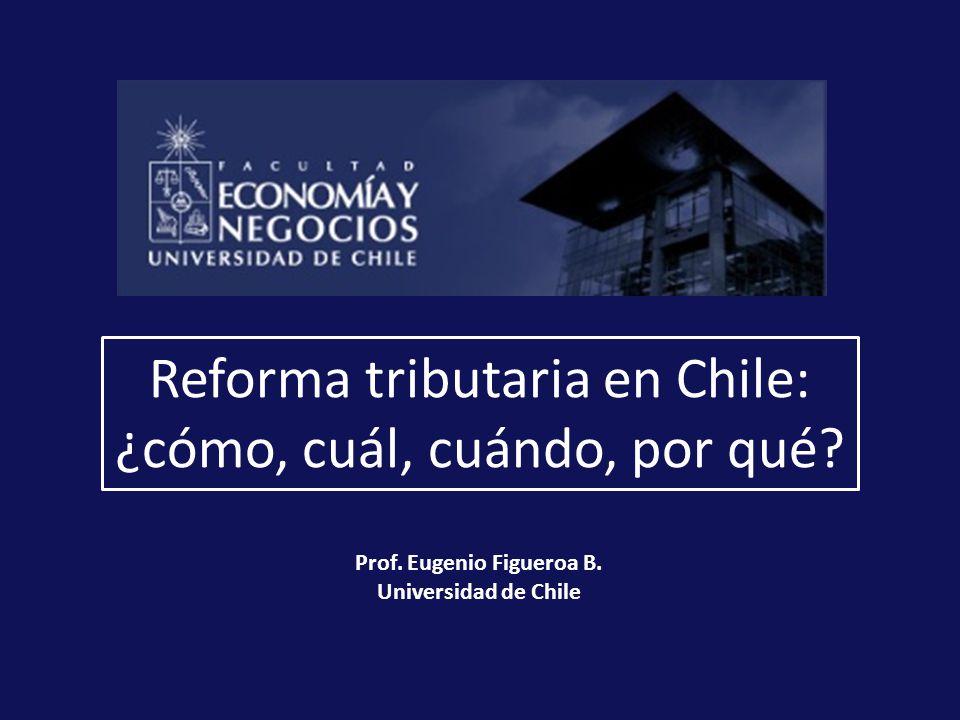 Reforma tributaria en Chile: ¿cómo, cuál, cuándo, por qué.