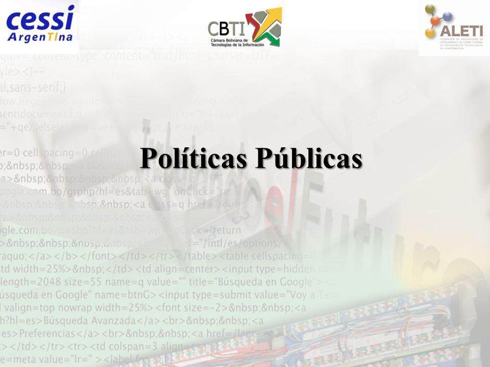 ADSIB Plan Nacional de Inclusión Digital 1.Gobierno electrónico 2.