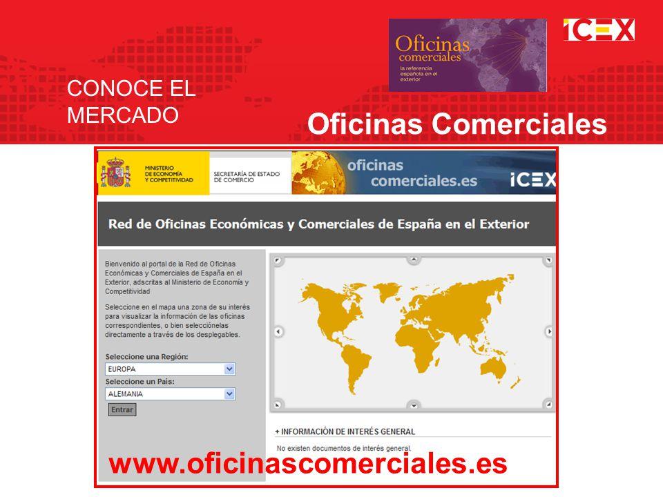 CONOCE EL MERCADO Oficinas Comerciales www.oficinascomerciales.es