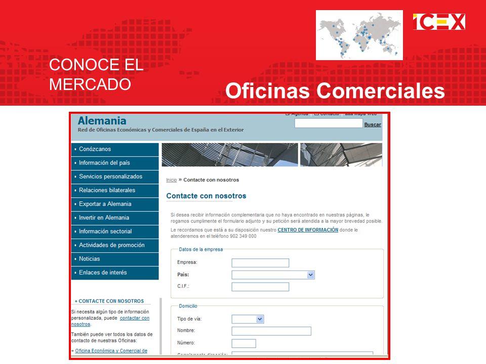 CONOCE EL MERCADO Oficinas Comerciales