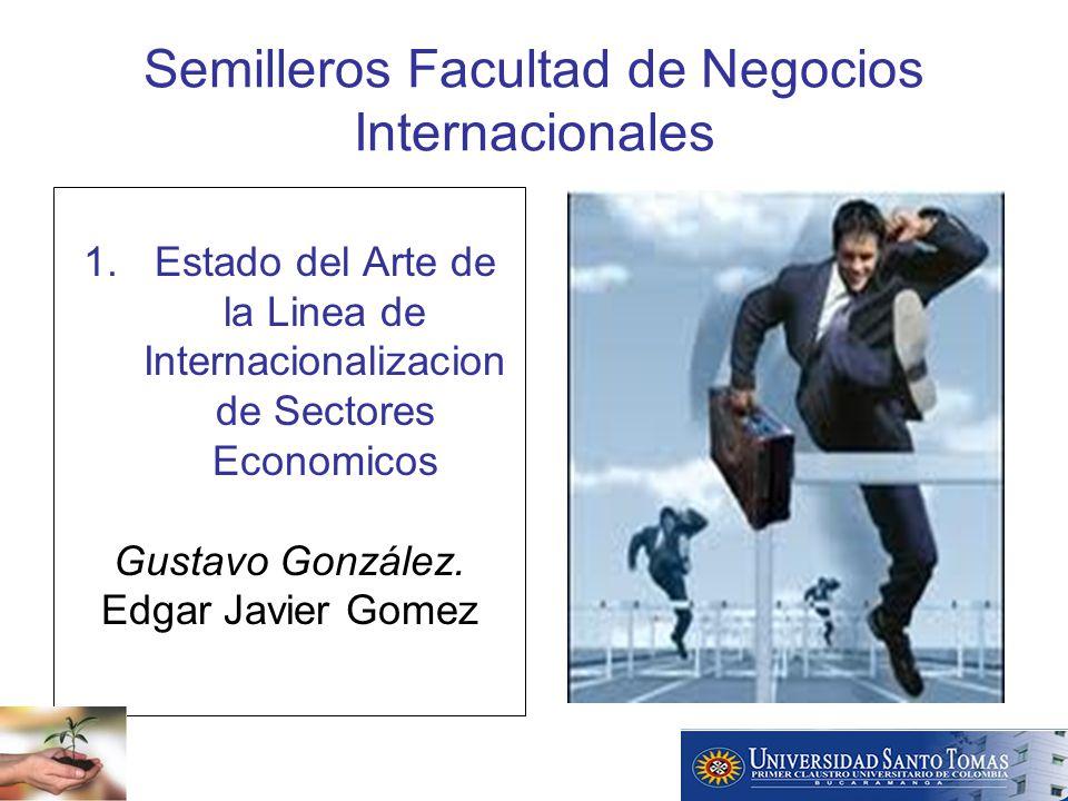 Semilleros Facultad de Negocios Internacionales 1.Estado del Arte de la Linea de Internacionalizacion de Sectores Economicos Gustavo González.
