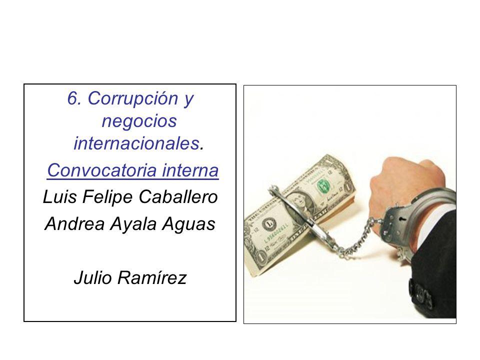 6. Corrupción y negocios internacionales.