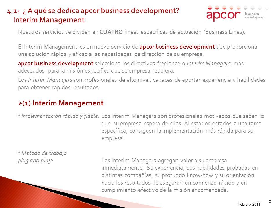 MADOFF-009003 8 Nuestros servicios se dividen en CUATRO líneas específicas de actuación (Business Lines).