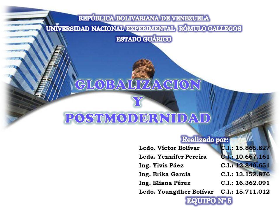 Lcdo. Víctor BolívarC.I.: 15.865.827 Lcda. Yennifer PereiraC.I.: 10.667.161 Ing.