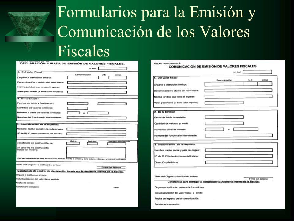 Ejemplo de Ventas de Valores en el mes COD.NOMBRE DEL FORMULARIOCANT.P/UIMPORTE BS.