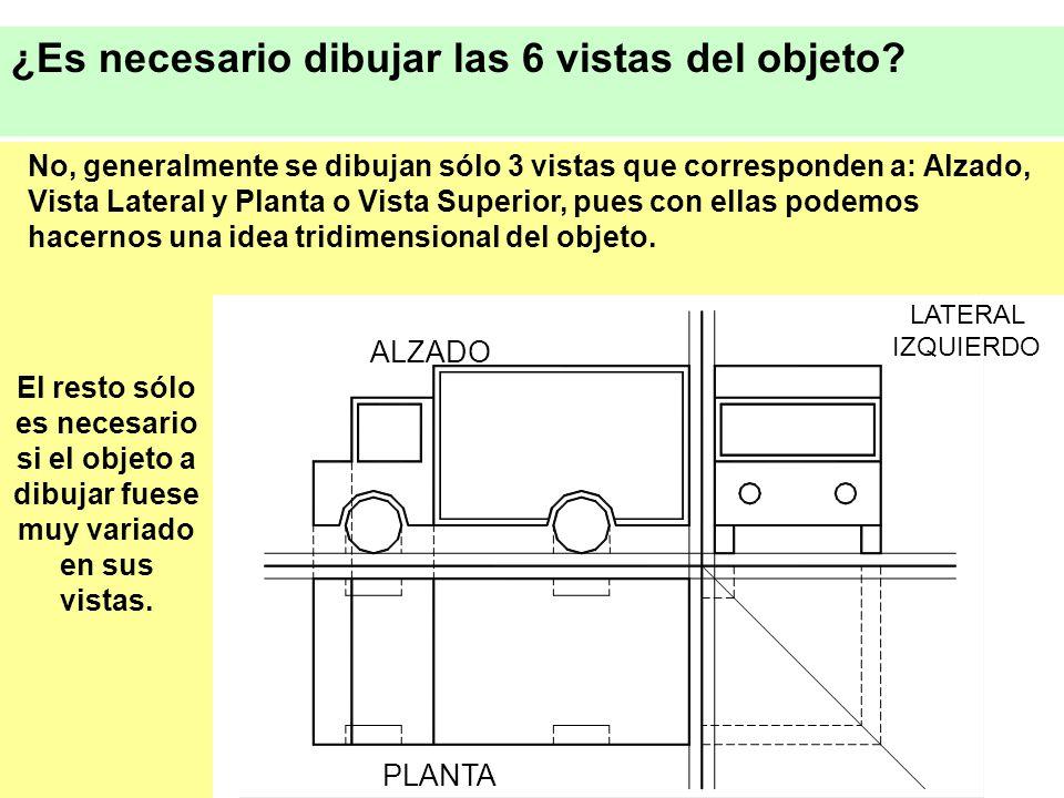 ¿Es necesario dibujar las 6 vistas del objeto.