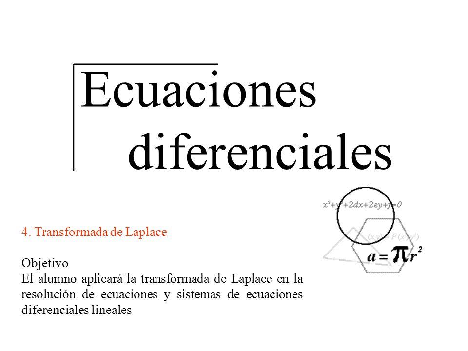 Transformada de Laplace Ecuaciones diferenciales 4.