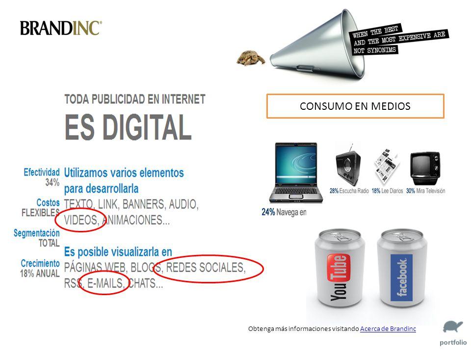Obtenga más informaciones visitando Acerca de BrandincAcerca de Brandinc CONSUMO EN MEDIOS