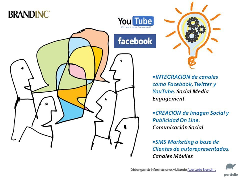 Obtenga más informaciones visitando Acerca de BrandincAcerca de Brandinc INTEGRACION de canales como Facebook, Twitter y YouTube.
