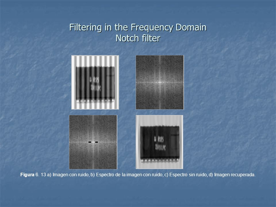Filtering in the Frequency Domain Notch filter Figura 6.