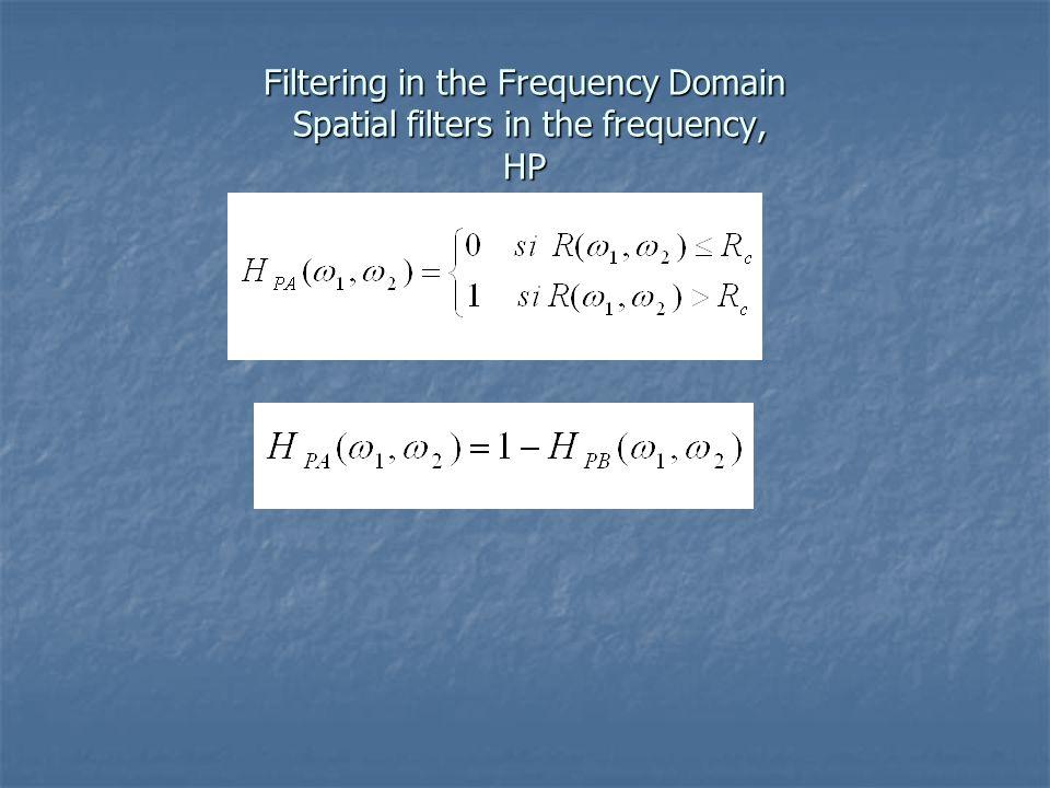 Figura 6. 7 Representación de un filtro ideal pasa altas en la frecuencia.