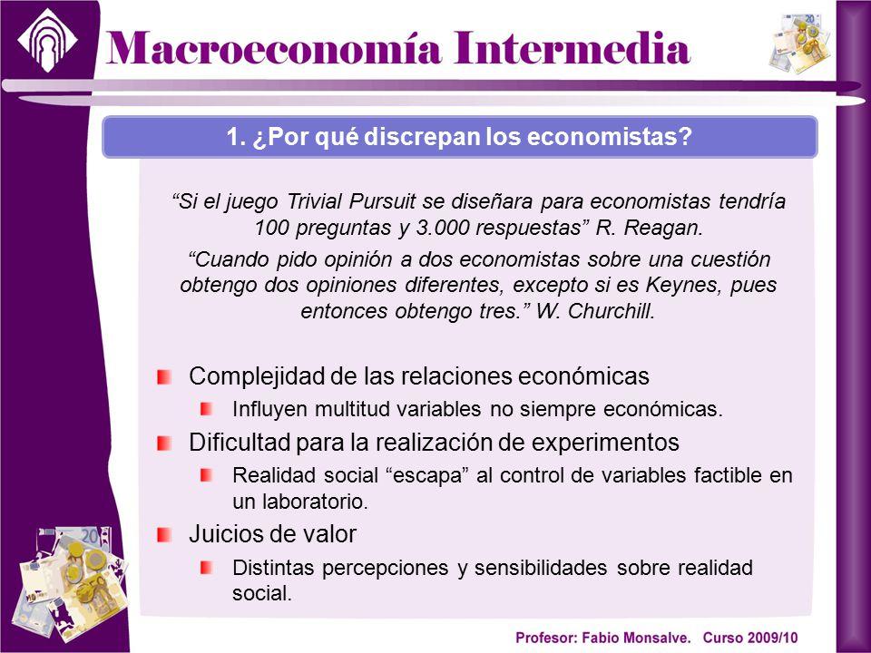Nueva Macroeconomía Clásica: Lucas (1937-; Nobel 1995), Barro (1944-), Sargent (1943-) Importancias de las expectativas en el comportamiento de los agentes.
