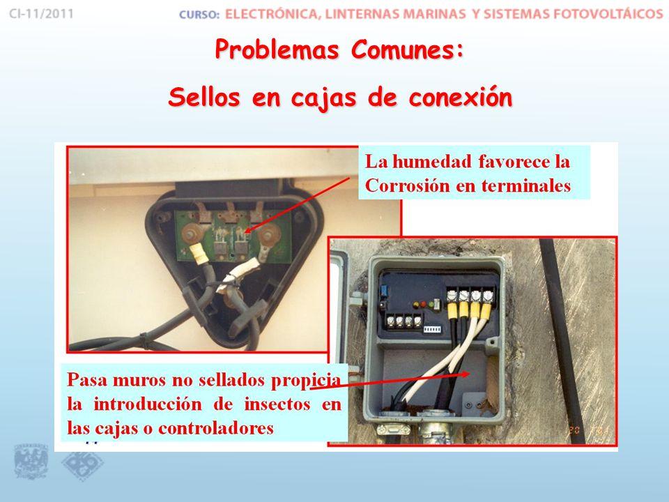 Problemas Comunes: Sellos en cajas de conexión