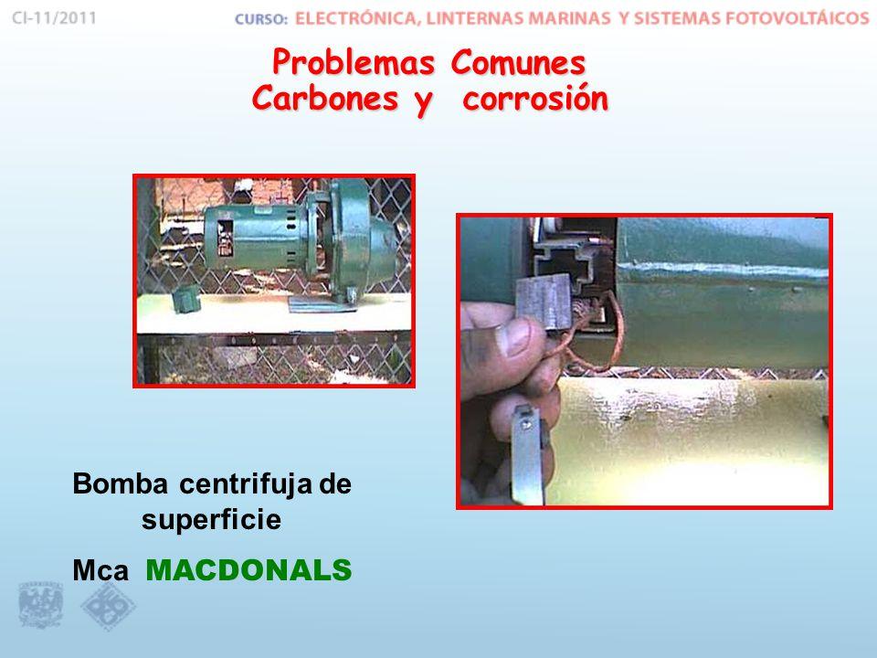 Problemas Comunes Carbones y corrosión Bomba centrifuja de superficie Mca MACDONALS