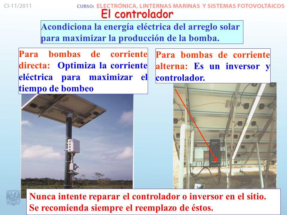 Acondiciona la energía eléctrica del arreglo solar para maximizar la producción de la bomba.