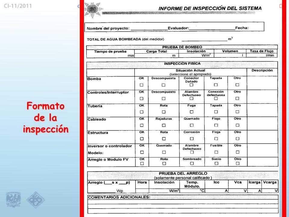 Formato de la inspección