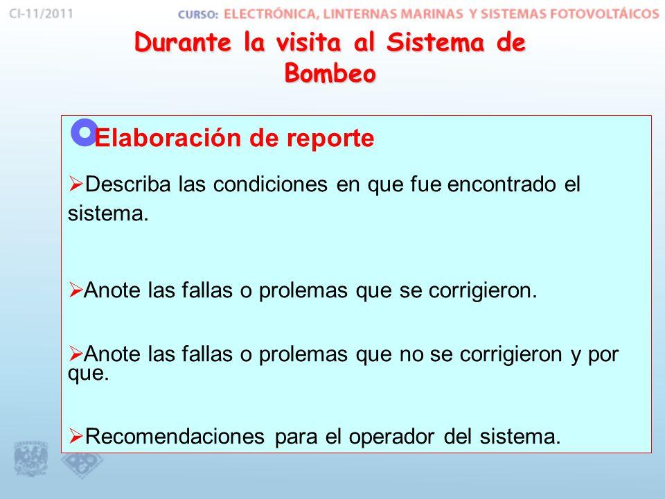  Elaboración de reporte  Describa las condiciones en que fue encontrado el sistema.