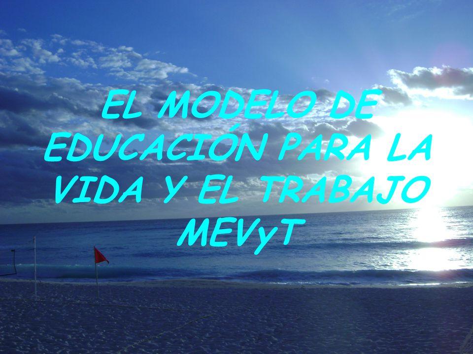EL MODELO DE EDUCACIÓN PARA LA VIDA Y EL TRABAJO MEVyT