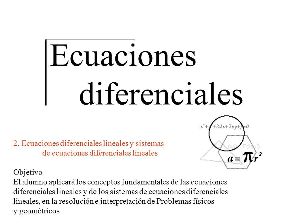Ecuaciones diferenciales lineales y sistemas Ecuaciones diferenciales 2. Ecuaciones diferenciales lineales y sistemas de ecuaciones diferenciales line