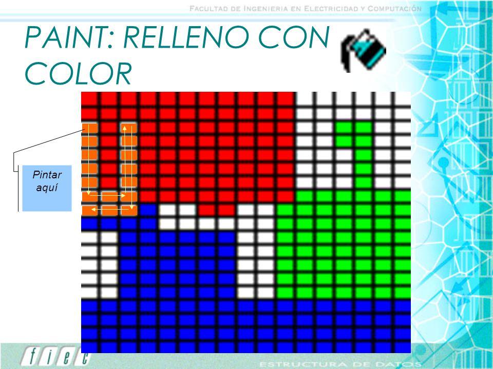 PAINT: RELLENO CON COLOR Pintar aquí