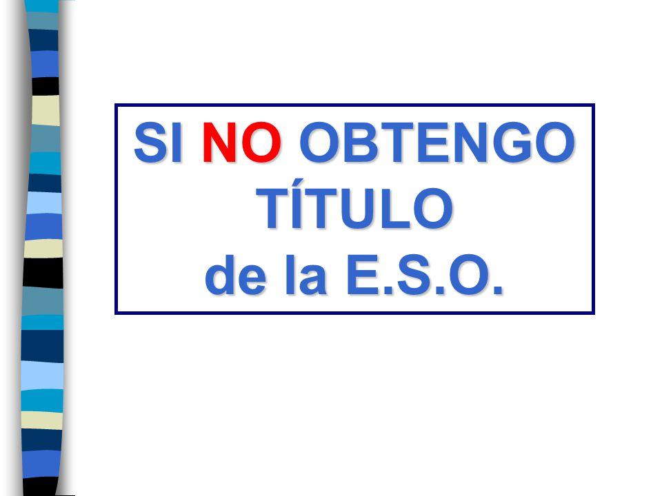 SI NO OBTENGO TÍTULO de la E.S.O.