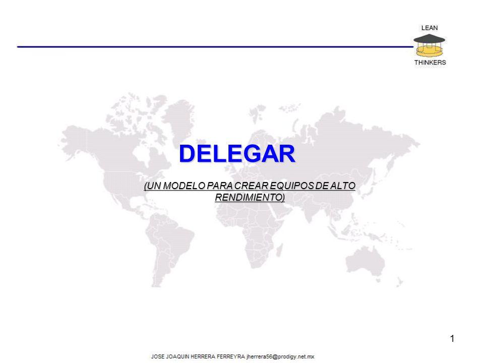 DELEGAR (UN MODELO PARA CREAR EQUIPOS DE ALTO RENDIMIENTO) 1