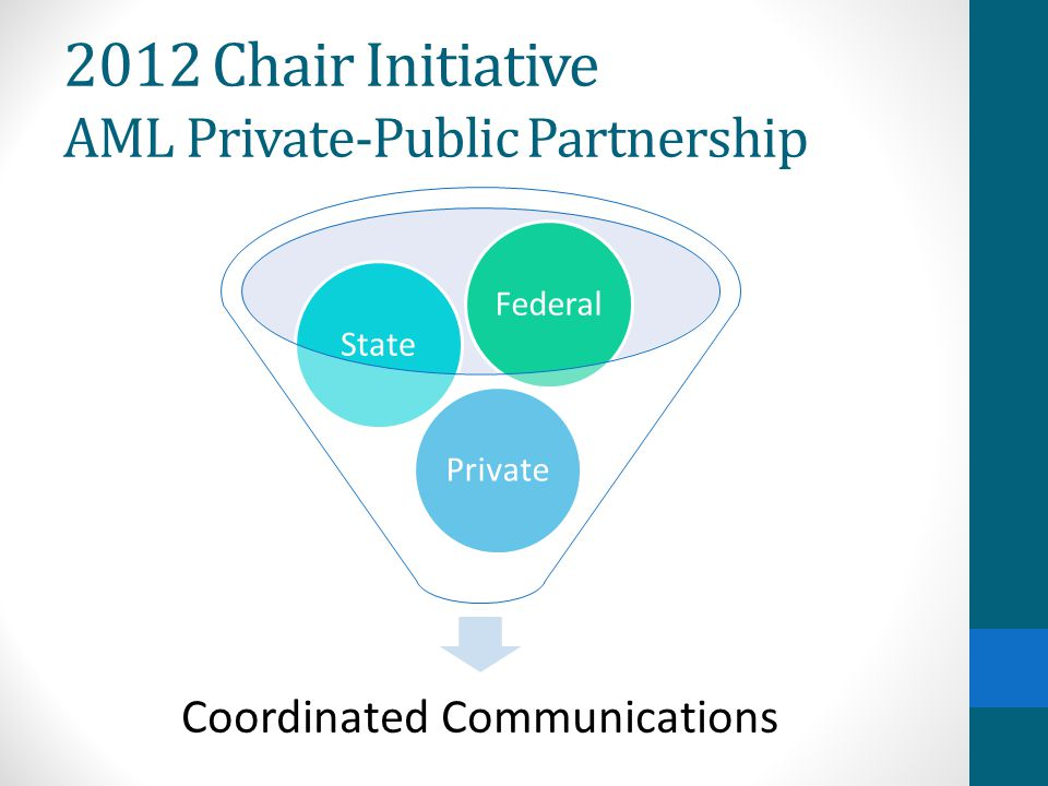 Coordinated Communications PrivateStateFederal 2012 Chair Initiative AML Private-Public Partnership