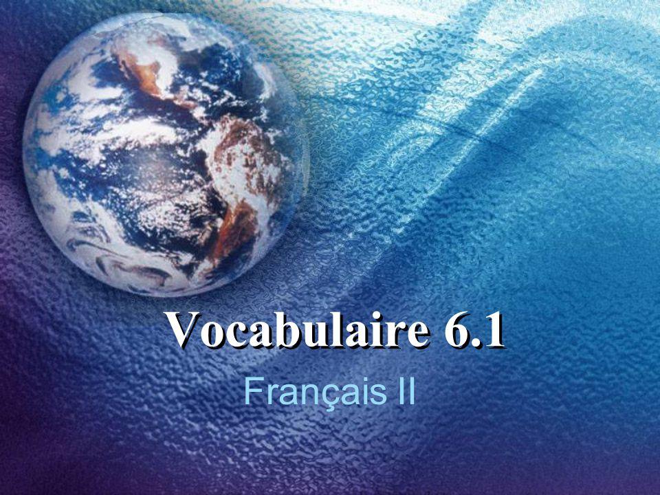 Vocabulaire 6.1 Français II