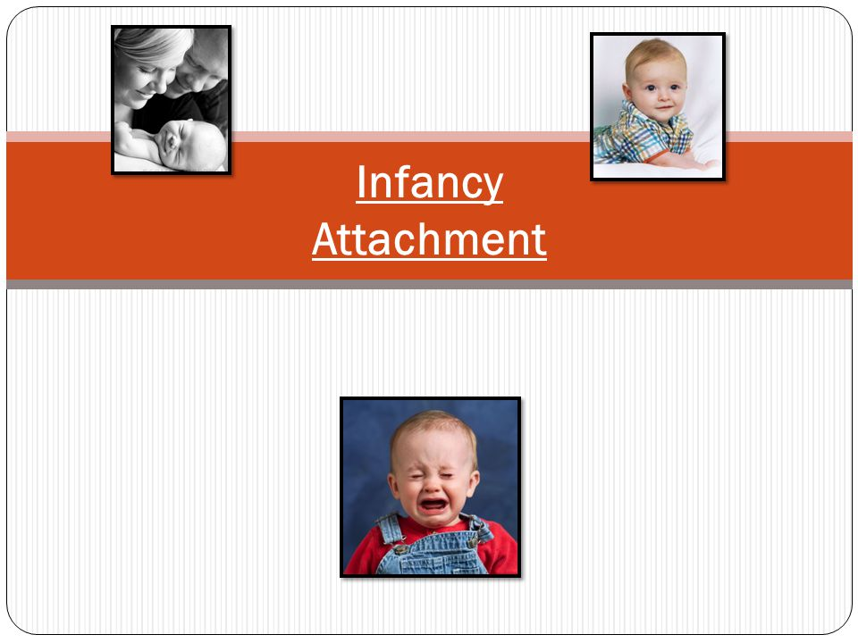 Infancy – Piaget's Sensory Sub-stages 1) Reflexive schemes / Esquemas reflexivos (0- 1 mos.) - Centering around the infant's own body…(sucking, rooting & grasping) 2) Primary circular reactions / Reacciones circulares primarias (1- 4 mos.)- Repeated movements, centering around infant's body & objects…by chance 3) Secondary circular reactions / Reacciones circulares secundarias (4-8) - Infants repeat actions that include objects in their environment; focus on reactions from the object & reactions of other's in the environment… 4) A child's ability to relate 2 actions/ Capacidad de relacionarse 2 acciones (8-12 mos.) Intentional behavior…moving Piaget's hand out of the way to get a desired object.