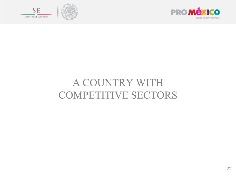 A COUNTRY WITH COMPETITIVE SECTORS 22