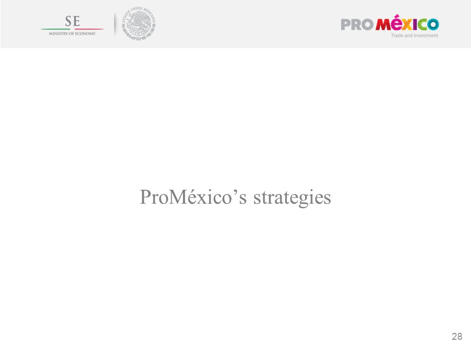 ProMéxico's strategies 28