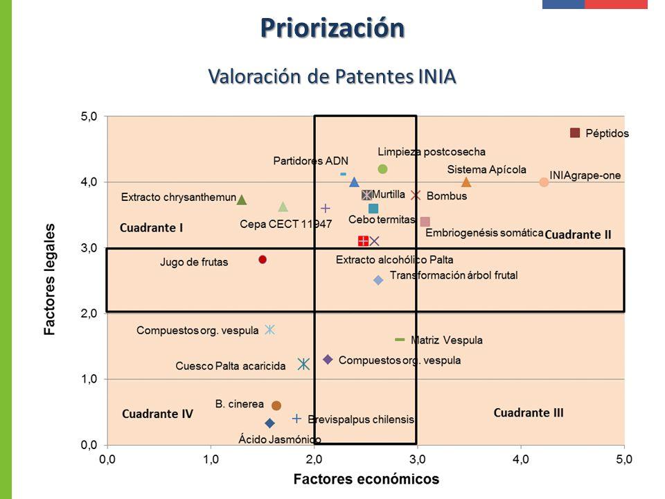 Valoración de Patentes INIA Priorización