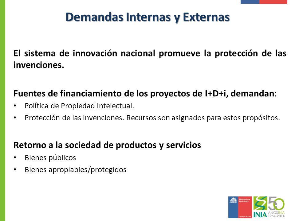 El sistema de innovación nacional promueve la protección de las invenciones. Fuentes de financiamiento de los proyectos de I+D+i, demandan: Política d