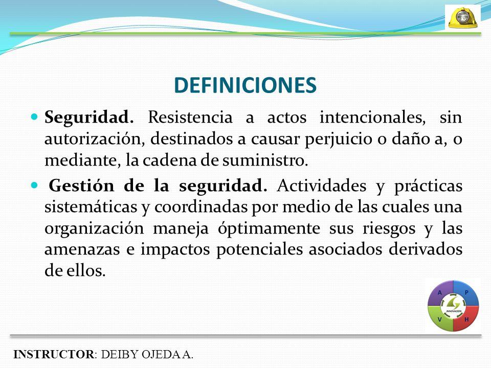 DEFINICIONES Seguridad.