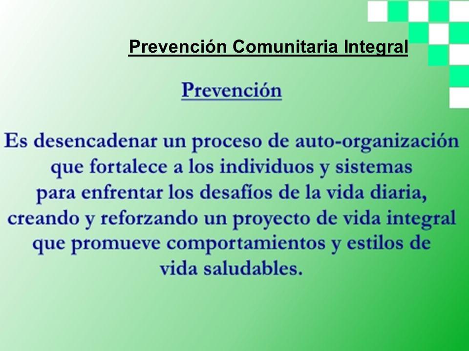 Prevención Comunitaria Integral