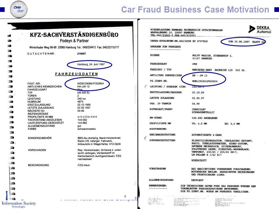 49Primer Taller en Grid Computing. Universidad del Valle, Cali, Colombia. January 2007 Car Fraud Business Case Motivation