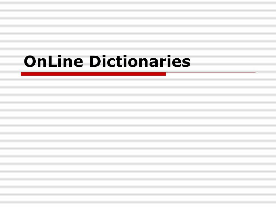 OnLine Dictionaries