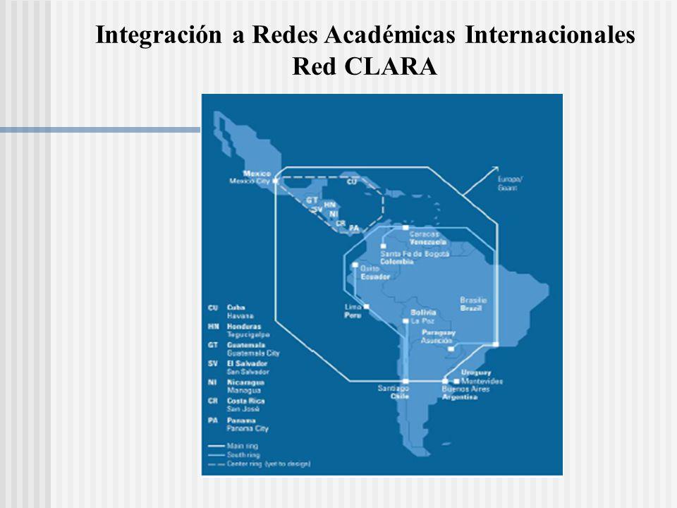 Integración a Redes Académicas Internacionales Red CLARA