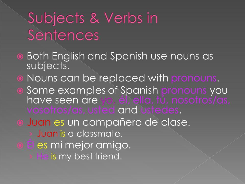  English sentences always have a subject or a subject pronoun.
