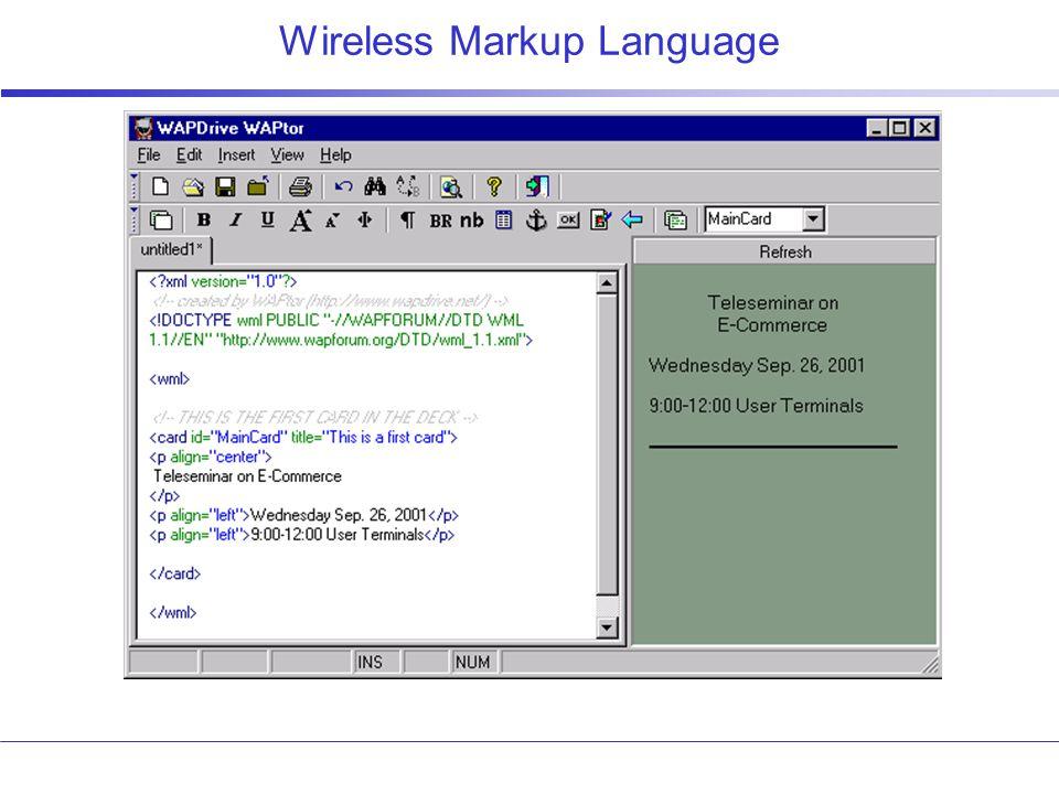 Wireless Markup Language