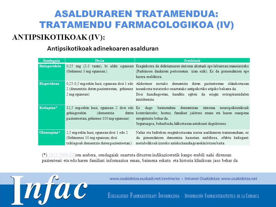 http://www.osakidetza.euskadi.net ASALDURAREN TRATAMENDUA: TRATAMENDU FARMACOLOGIKOA (IV) ANTIPSIKOTIKOAK (IV): Antipsikotikoak adinekoaren asalduran