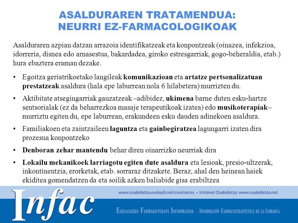 http://www.osakidetza.euskadi.net ASALDURAREN TRATAMENDUA: NEURRI EZ-FARMACOLOGIKOAK Asalduraren azpian datzan arrazoia identifikatzeak eta konpontzea