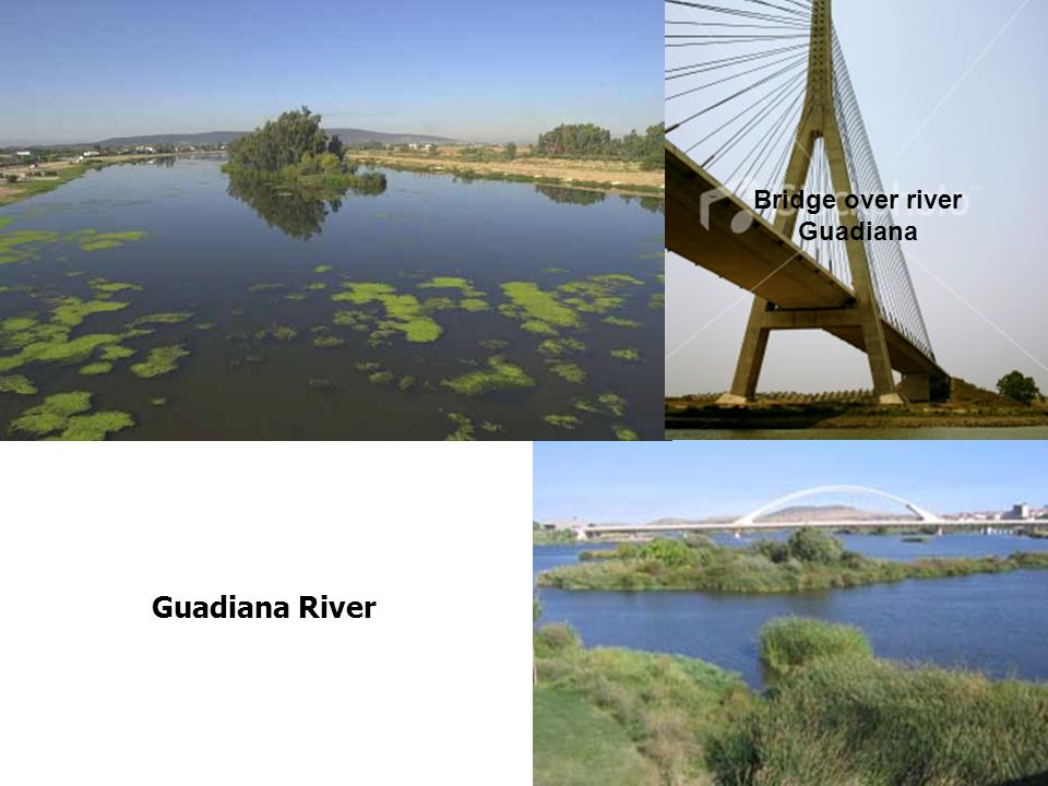 Guadiana River Bridge over river Guadiana