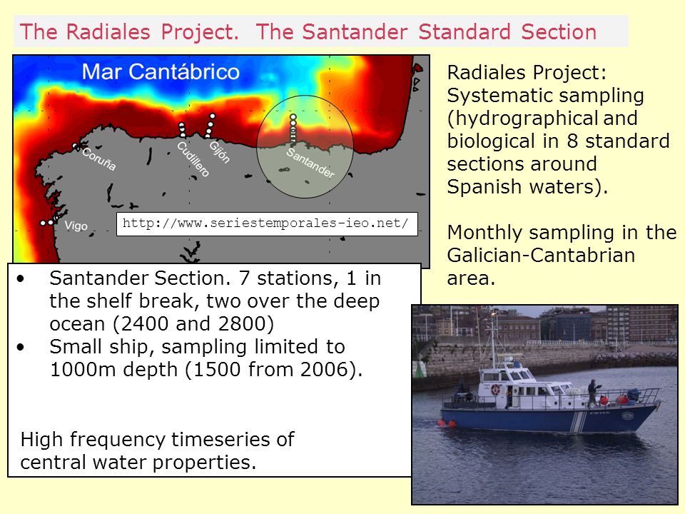 Radiales Project: Systematic sampling (hydrographical and biological in 8 standard sections around Spanish waters).