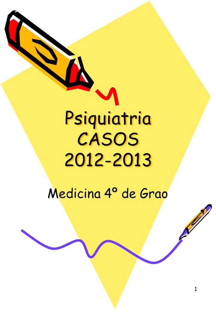 1 Psiquiatria CASOS 2012-2013 Medicina 4º de Grao